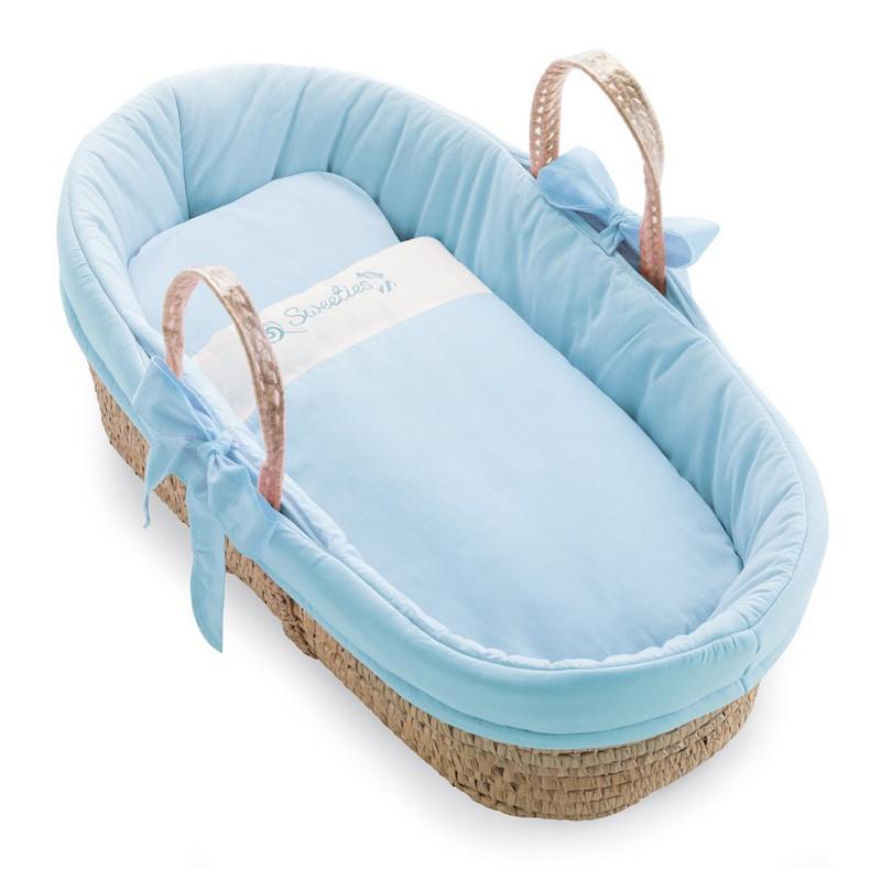 Košík pro miminko Pali Sweeties světle modrá