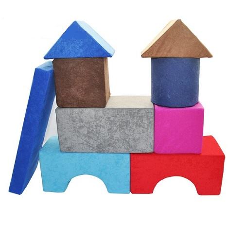 Molitanové kostky stavebnice 60x66x20 cm Molitanová stavebnice
