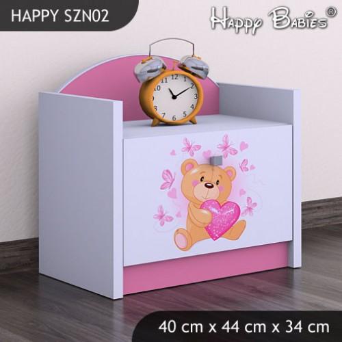 Dětský noční stolek Medvídek a srdíčka