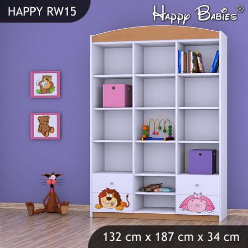 Dětský regál vysoký Happy Babies RW15