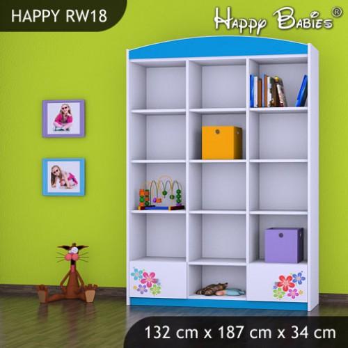Dětský regál vysoký Happy Babies RW18