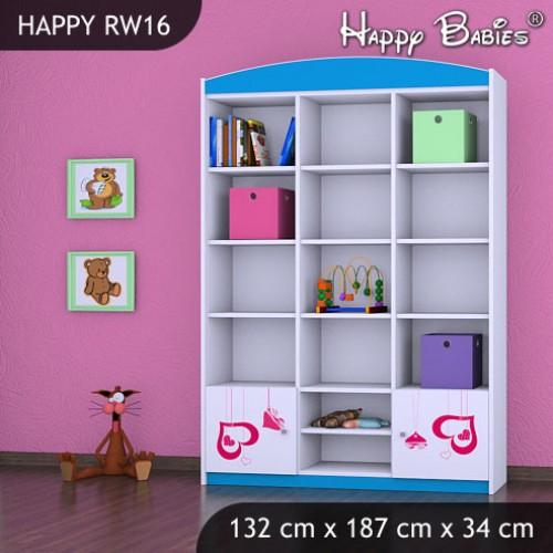 Dětský regál vysoký Happy Babies RW16
