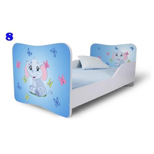 Dětská postel slůně modrá Dětská postel
