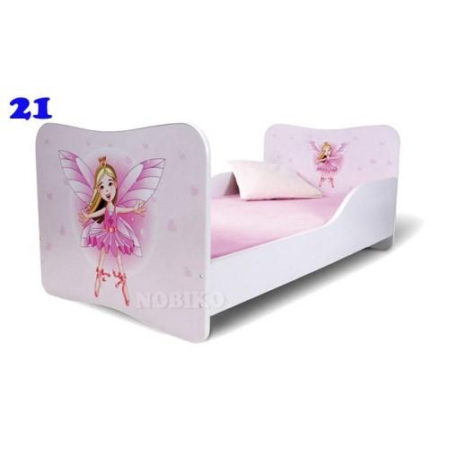 Dětská postel Adam Bíllá víla bílá 140x70 Dětská postel