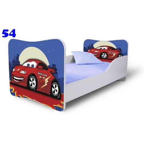 Dětská postel Adam Bílá zavodní auto noc 140x70 Dětská postel