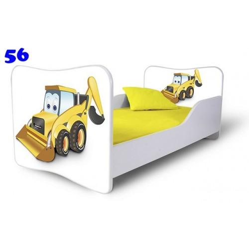 Dětská postel Adam Bílá bagřík bílá 140x70 Dětská postel