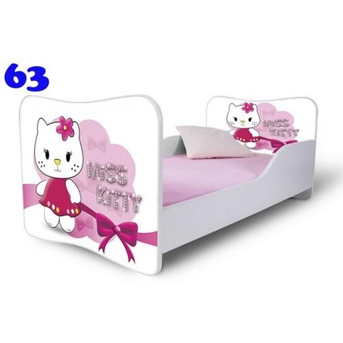 Dětská postel Adam Bíllá miss Kitty bílá 140x70 Dětská postel