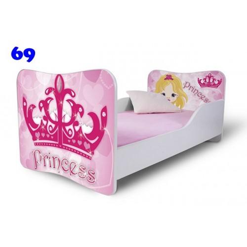 Dětská postel Adam Bílá princezna 140x70 Dětská postel