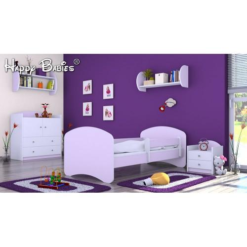 Dětská postel Happy Babies se zábranou lilie 140x70 Dětská postel