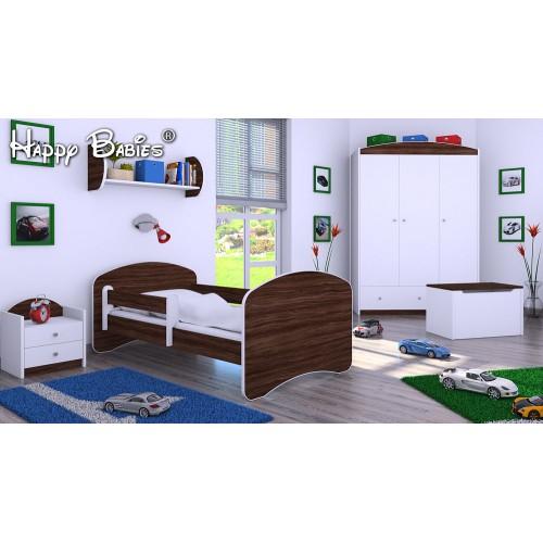 Dětská postel Happy Babies se zábranou Oliva 140x70 Dětská postel