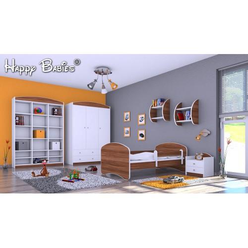 Dětská postel Happy Babies se zábranou Slíva 140x70 Dětská postel