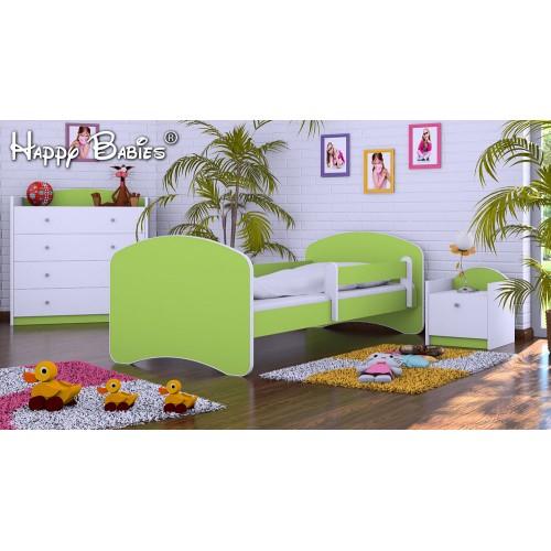 Dětská postel Happy Babies se zábranou Zelená 140x70 Dětská postel