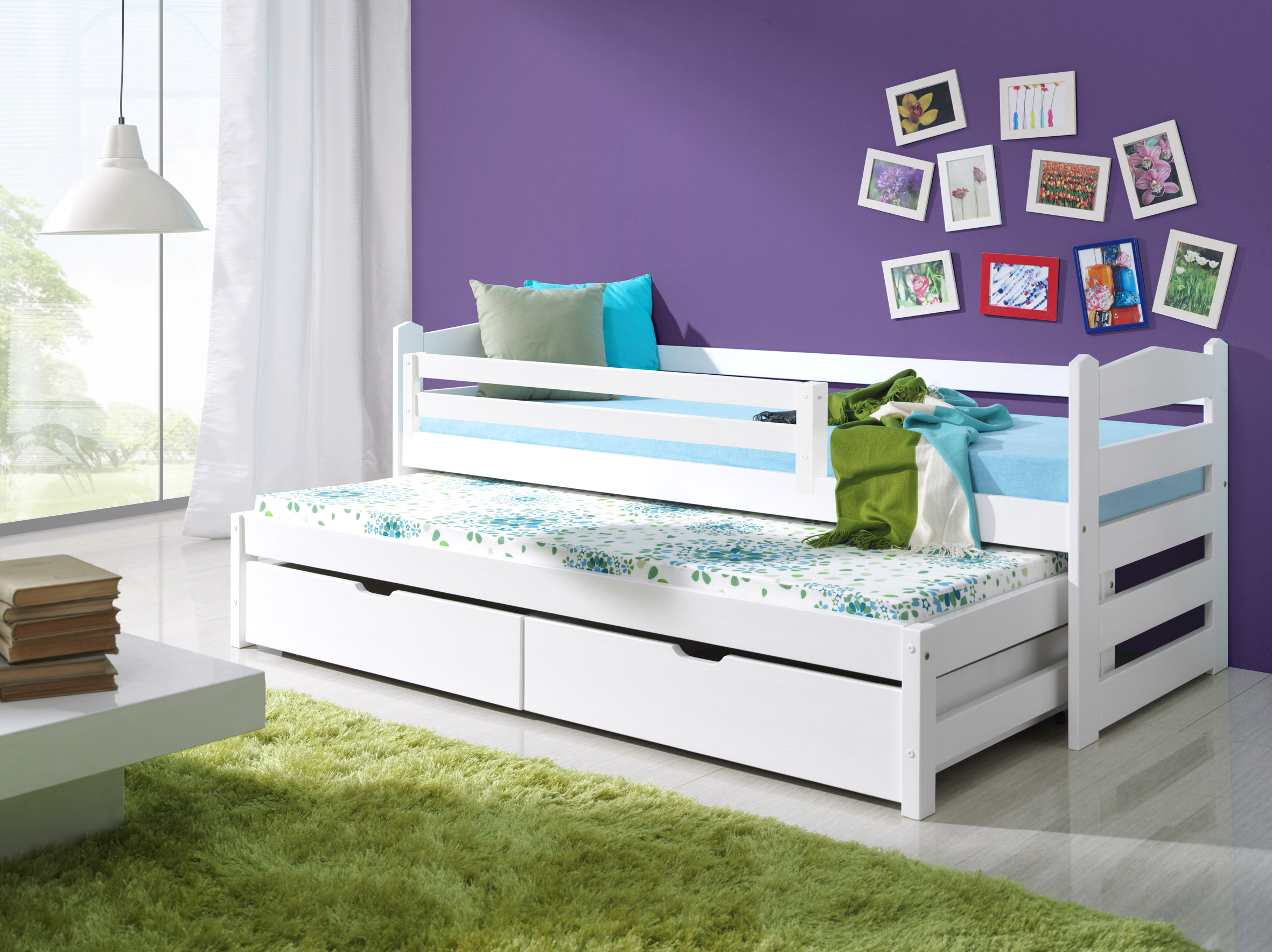 Dětská postel s dvoulůžkem a úložným prostorem 200x80 + doprava zdarma Dětská postel