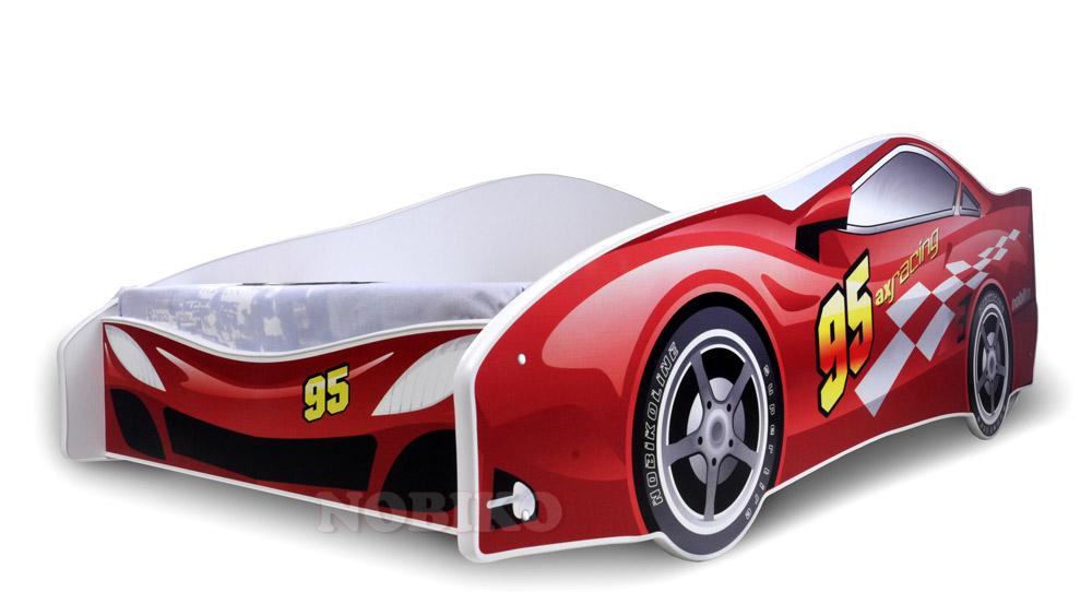 Postel happy babies auto závoďák červená 200x84 Dětská postel auto