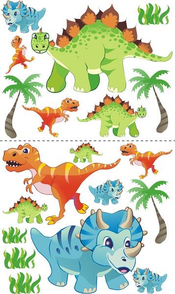 Samolepky na zeď Dinosauři Samolepky na zeď