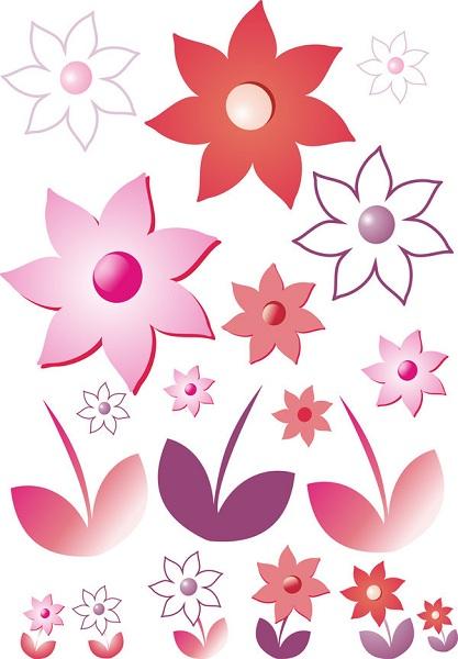 Samolepky na zeď Květinky Samolepky na zeď