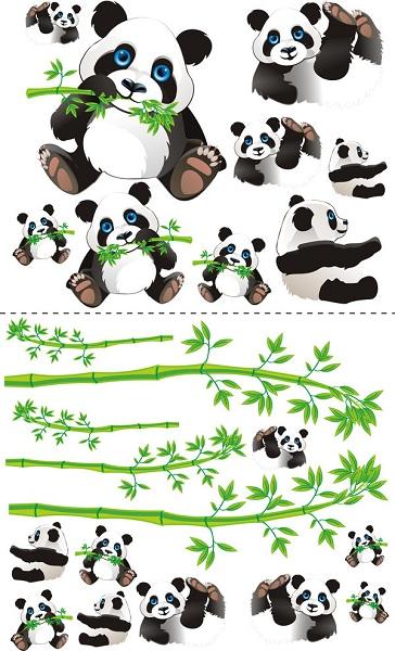 Samolepky na zeď Panda Samolepky na zeď