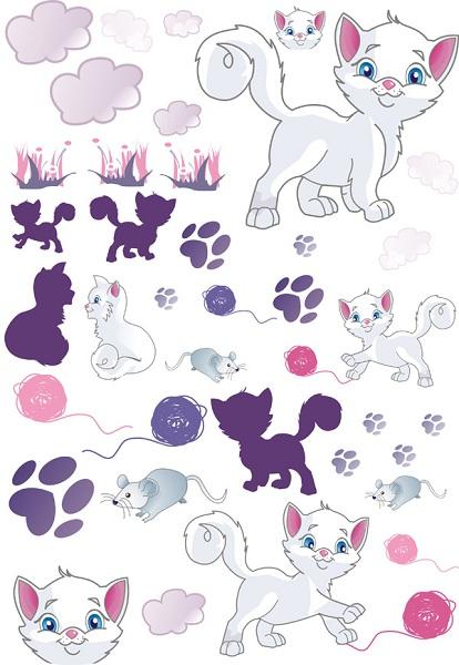 Samolepky na zeď Kočičky Samolepky na zeď