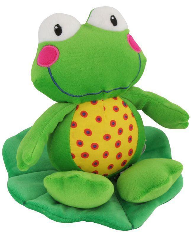 Plyšová hračka s vibrací žabka Plyšové hračky