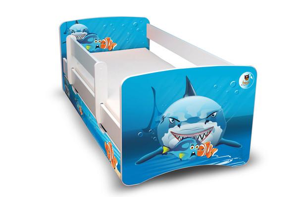 Postel Filip Bílá s bočnicí Nemo III 160x70 Dětská postel