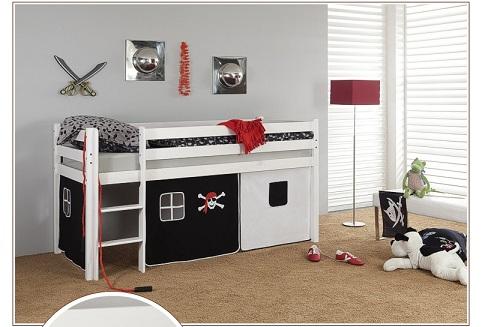 Happy Babies Vyvýšená postel s domečkem 200x90 Dětská postýlka