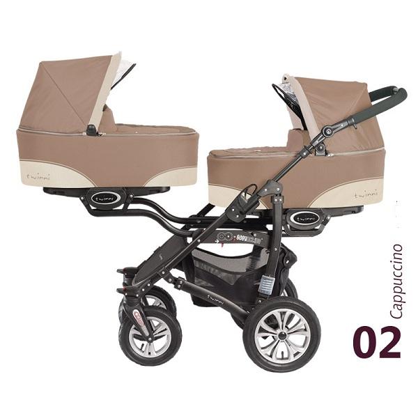 Babyactive Twinni City Capuccino 2013 Kočarek pro dvojčata