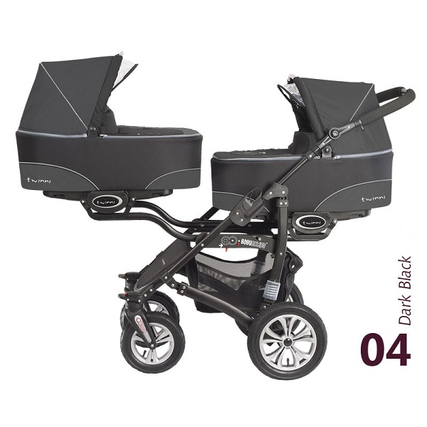 Babyactive Twinni Dark Black 2013 Kočarek pro dvojčata