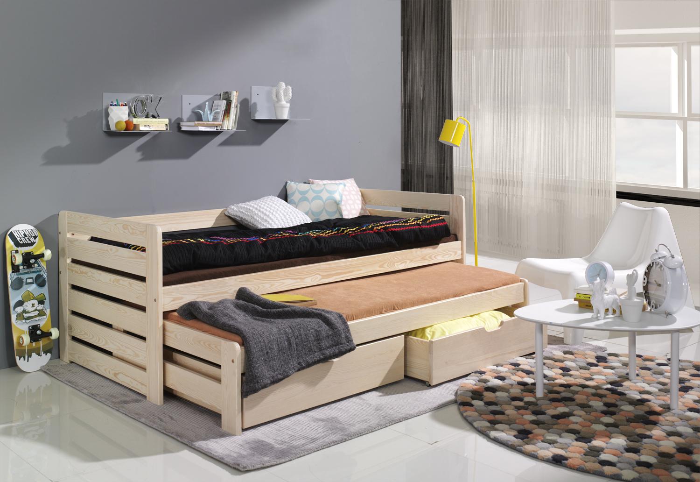 Dětská postel s dvoulůžkem a úložným prostorem Praktik 180x80 + doprava zdarma Dětská postel
