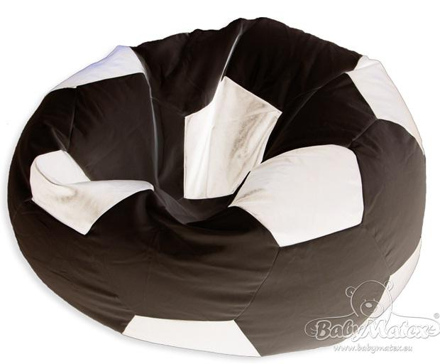 Sedací vak ve tvaru fotbalového míče černo-bílá Sedačka