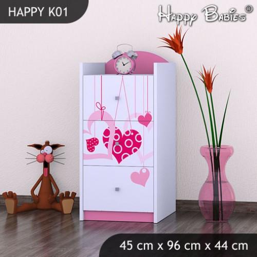 Dětská komoda Happy Babies Různé motivy KN1