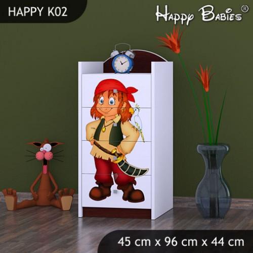 Dětská komoda Happy Babies Různé motivy KN2