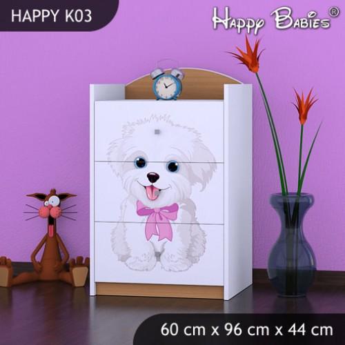 Dětská komoda Happy Babies Různé Motivy KN6