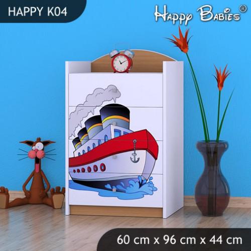 Dětská komoda Happy Babies Různé motivy KN7