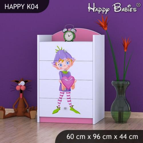 Dětská komoda Happy Babies různé motivy KN8