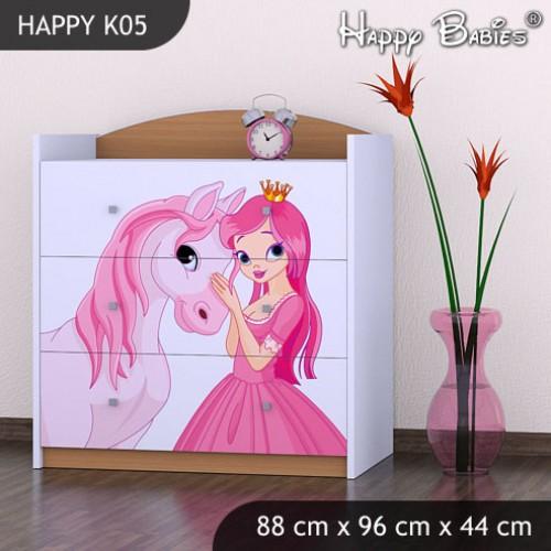 Dětská komoda Happy Babies Různé motivy KN9