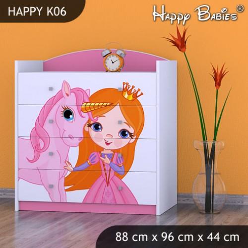 Dětská komoda Happy Babies Různé motivy KN10