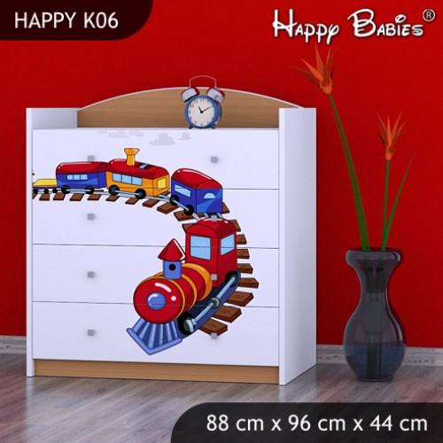 Dětská komoda Happy Babies Různé motivy KN11