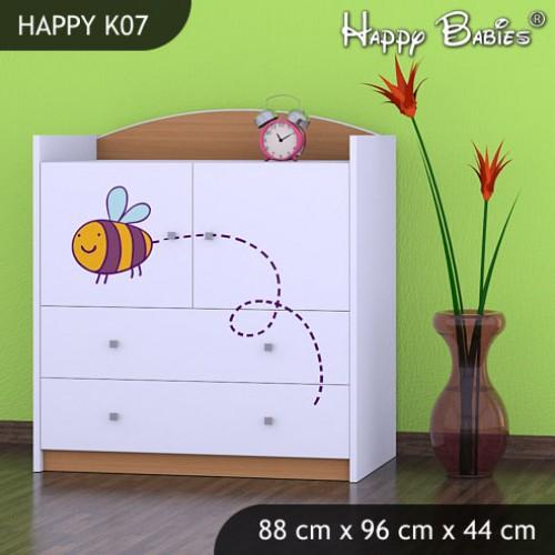 Dětská komoda Happy Babies Různé motivy KN12