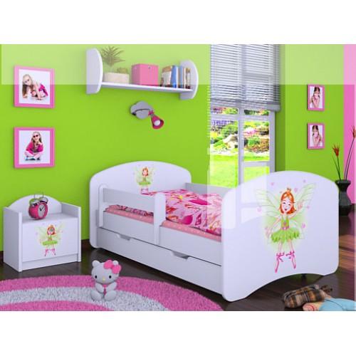 Dětská postel Happy Babies se zábranou Víla 140x70 Dětská postel